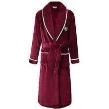 Flanela mulheres robe kimono roupão de banho casual solto nightdress sleepwear inverno grosso quente coral velo roupa de noite em casa