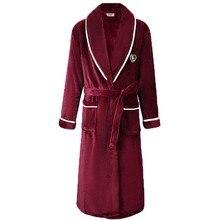 Flanell Frauen Robe Kimono Bademantel Kleid Beiläufige Lose Nachthemd Nachtwäsche Winter Dicke Warme Korallen Fleece Nachtwäsche Hause Kleidung