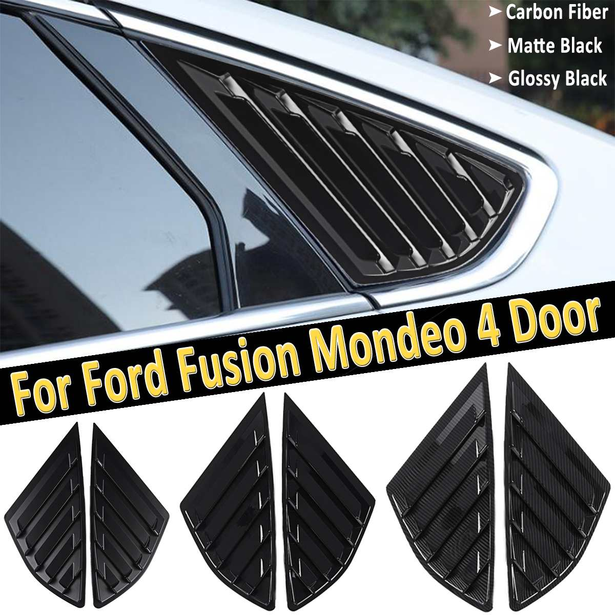 Black titanium Headlight Switch Button Cover Trim For Ford Fusion Mondeo 2013-18