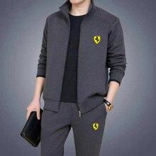 2021 men s sportswear two piece autumn new casual sportswear zipper Sweatshirt sweatpants measurement suit