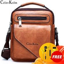 Celinv Koilm Men Bag Famous Designer Men Shoulder Messenger Bags Split Leather Crossbody Tote Men Fashion Business High Quality