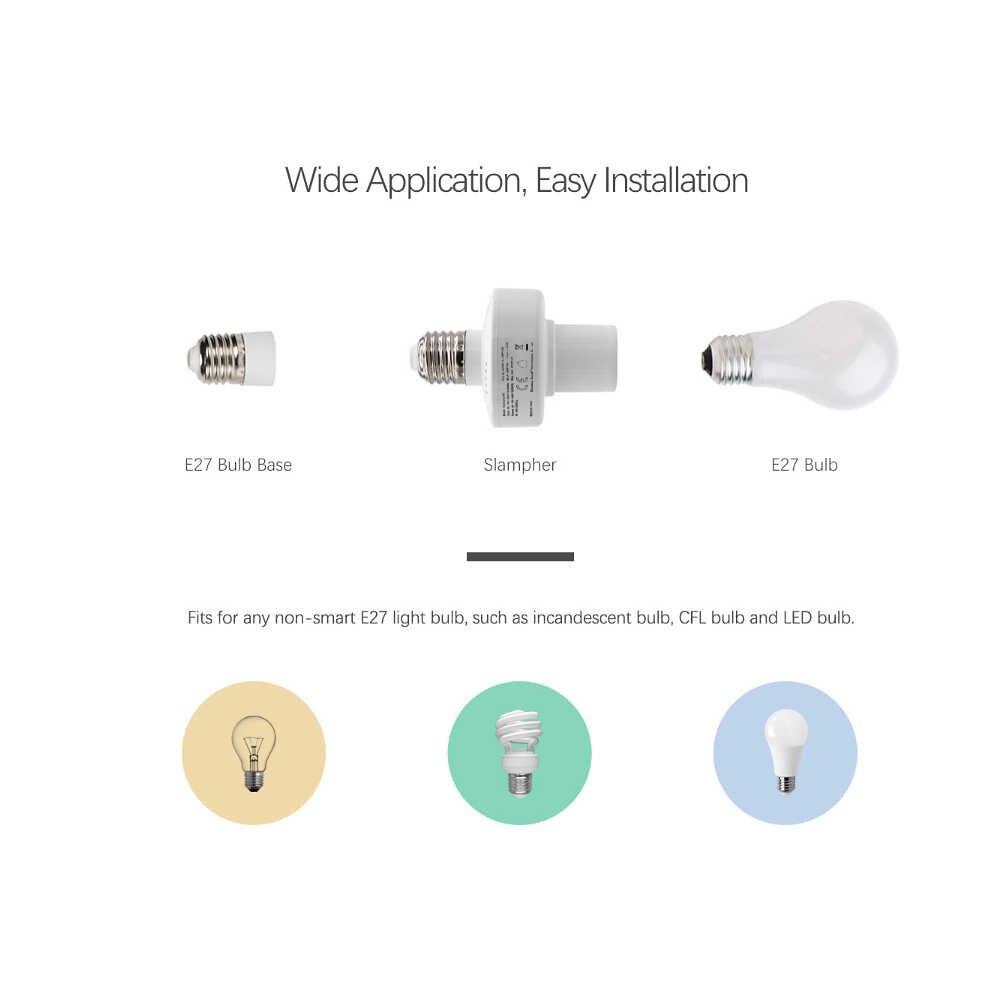 Sonoff Slampher RF E27 Wireless LED Bulb Pemegang Smart 433 MHZ RF Wifi Lampu Sekrup Bohlam Wifi Soket Lampu RF remote Kontrol Waktu