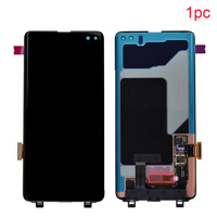 Screen Digitizer Kit Capacitive With Frame Portable Parts Replacement Mobile Phone LCD Display Assembly For Samsung S10 Plus