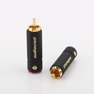 Image 4 - Palic High Quality Gold Plated RCA Plug Lock Collect Solder A/V Connector HIFI Connector for DIY cable diameter
