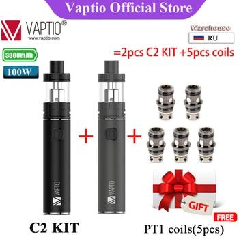 3000mAh Original Vaptio C2 Starter Kit With 100W Power Long-last Battery 2ml/4ml Atomizer Electronic Cigarette Vape Pen цена 2017