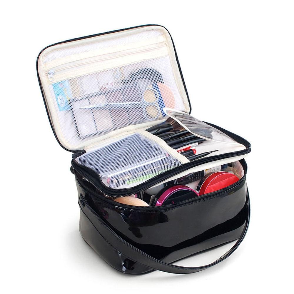 Makeup Case High Quality Waterproof PU  Cosmetic Bag High Capacity Travel Organizer Case Women Portable Beautician Toiletry Box