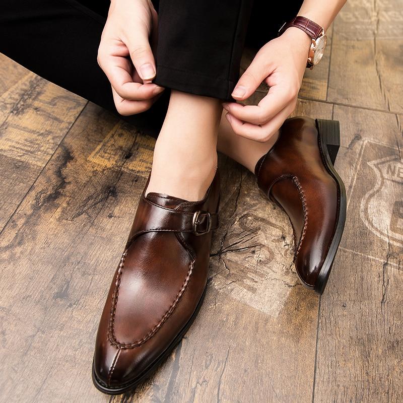 2020 итальянские модельные туфли мужские свадебные вечерние туфли высококачественные повседневные Лоферы мужские дизайнерские туфли на пло...