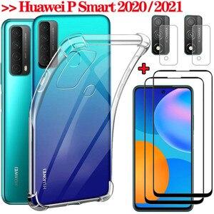 Image 1 - P Smart 2021 case 、透明ケースSmart2021カメラ電話バックカバーhuawey 1080p + スマート + 2020 1080pスマート2021ガラスケース psmart 2021 cover glass