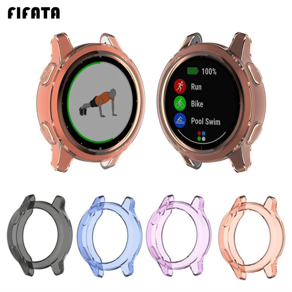 FIFATA TPU Case Protector Frame For Garmin Vivoactive 4 / 4S Smart Watch For Vivoactive 4S / 4 Screen Protective Cover Shell