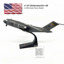 AMER 1/200 Scale Military Model Toys USA C-17 Globemaster III Transport Aircraft Diecast Metal Plane Toy For Gift