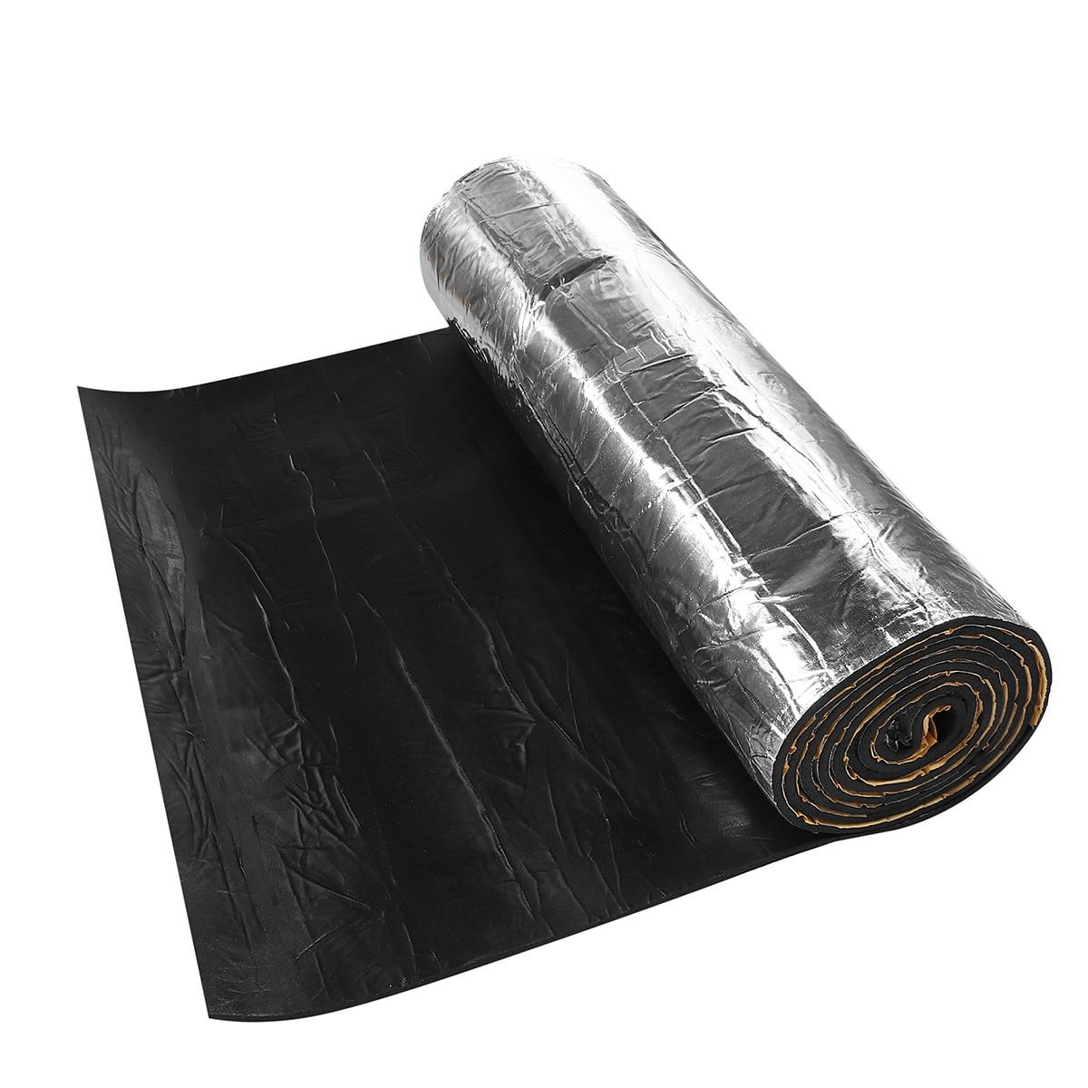 1x5m 10mm 1 Roll Self-adhesive Car Auto Sound Deadening Cotton Heat Insulation Pad Foam Material Automobiles Interior Accessorie