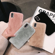 Cute Fur Case for Huawei Honor View 10 20 Pro V10 V20 Mobile Phone Case Cover Huawei Honor 10 Lite 9 V9 Play 9X Pro 9i 10i 20i(China)