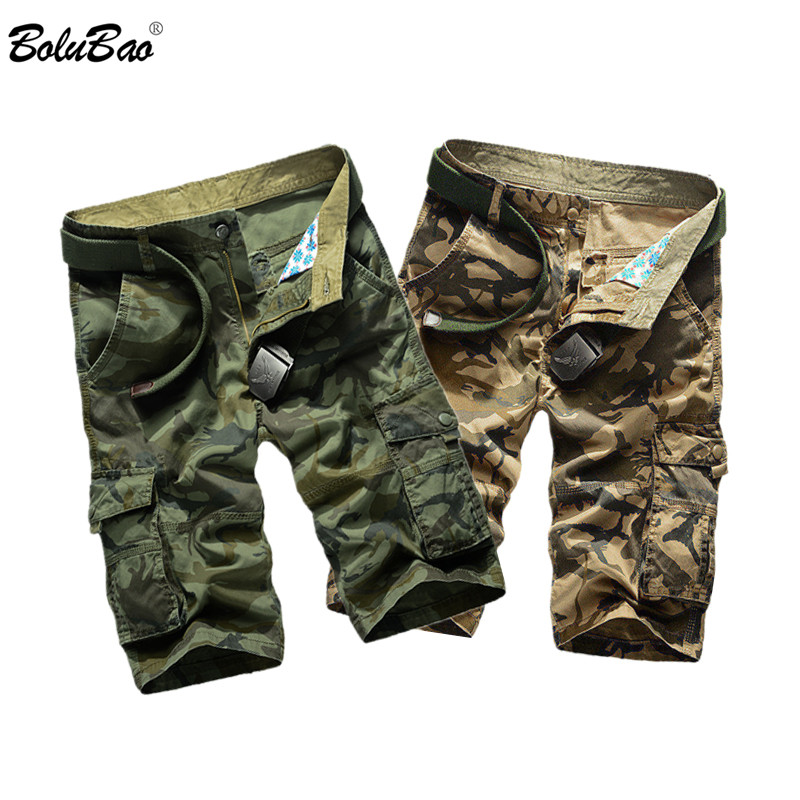 BOLUBAO Brand Men Casual Short Men's Military Camouflage Shorts Summer New Male Multi-Pocket Cargo Shorts