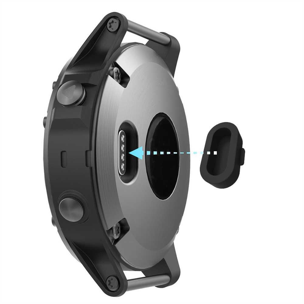 שעון טעינת יציאת רך סיליקון Dustproof תקע עבור Garmin Vivoactive 3 4 4S Fenix 6 6S 6X5 5X 5S Forerunner 935 חכם שעון