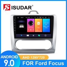 цена на ISUDAR Car Radio For Ford/Focus 2 Mk 2 2004-2008 2009-2011 2 din Android 9 Autoradio Multimedia GPS DVR Camera RAM 2GB ROM 32GB
