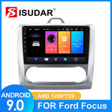 Isudar Mobil Radio untuk FORD/Focus 2 Mk 2 2004-2008 2009-2011 2 DIN Android 9 auto Radio Multimedia GPS DVR Kamera RAM 2GB ROM 32GB(China)