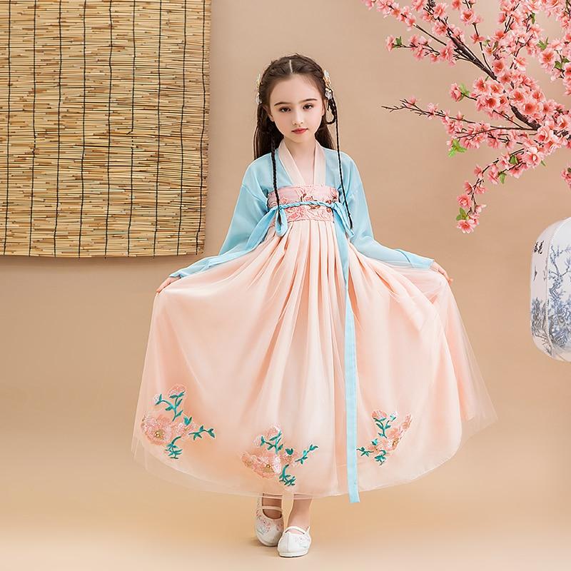 Coaplay Dress Vintage Princess Birthday Wedding Party Chinese Han Fu Girl's Eucharist Formal First Dance Cheongsam Dress 2020