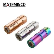 Mateminco K01 스테인레스 스틸 미니 손전등 크리 어 XP-G3 LED max.100 루멘 1*10180 배터리 USB 충전식 키 라이트