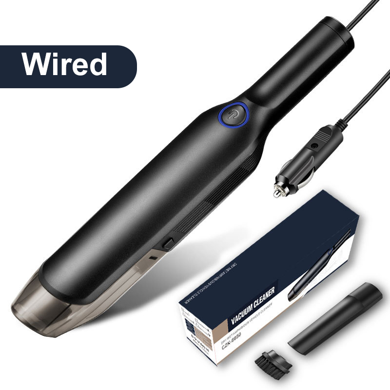 Wired(For Car)-Handheld Wireless Vacuum Cleaner Rechargeable Cordless Wet/Dry Auto Portable for Car Home