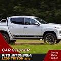 Бесплатная доставка  корпус боковой двери shark 4х4  стильный графический виниловый автомобильный стикер для mitsubishi l200 triton 2006-2019