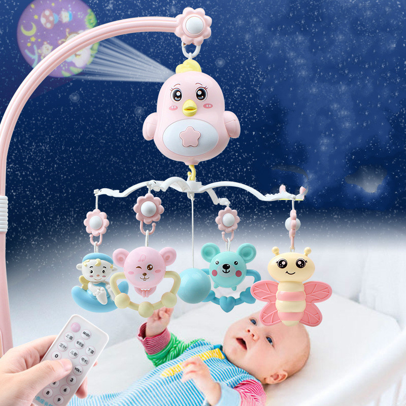 Baby Bed Bell Music Rotary Ring Ring 0-3 Yearold Glue Pendant Rotating Projection Infant Bed