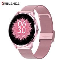2021 neue Smart Uhr Frauen IP68 Wasserdichte Volle Touch Heart Rate Monitor Blutdruck Smartwatch Männer Aluminium Fall