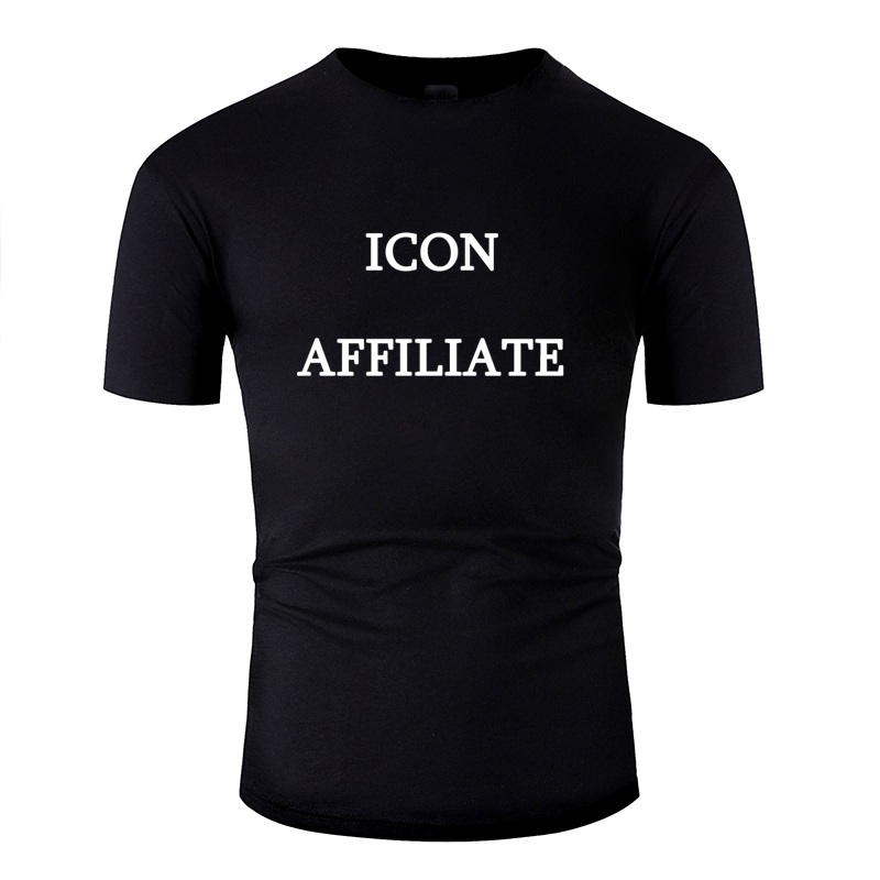 Vintage Icon Affiliate White T Shirt For Men O Neck Camisetas Unisex Men T-Shirts Hiphop Tops
