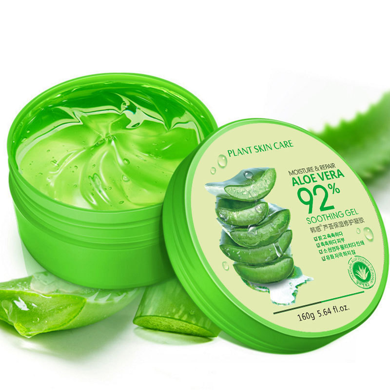 160g Aloe Vera Gel 92% Natural Face Creams Moisturizer Acne Treatment Gel For Skin Repairing Natural Beauty Products