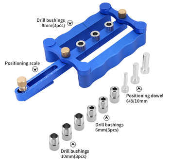 Woodworking Punching Locator round Wood Tenon Puncher Locator Tapper DIY Woodworking Tools - DISCOUNT ITEM  70 OFF Tools