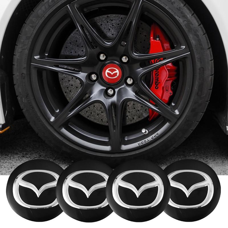 Автомобильная эмблема, наклейки на колпачок колеса в центре колеса, 56 мм, 4 шт., для Mazda 3, Mazda 6, Mazda 2, Demio CX3, CX4, CX5, CX7, CX9, CX30, RX8, MX5, MX3