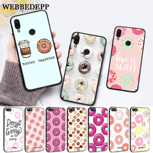 WEBBEDEPP pink sweet donut Hot Silicone Case for Xiaomi Redmi Note 4X 5 6 7 Pro 5A  Prime