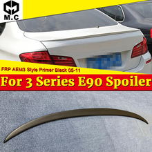 For BMW E90 FRP Unpainted Trunk Spoiler Wing P Style Add On 3 Series Sedan 323i 325i 328i 330i M3 Look Wing Rear Spoiler 2005-11 for bmw f30 sedan trunk spoiler frp unpainted m3 style 3 series 318i 320i 325i 328i 330i 335i m3 look wing trunk spoiler 2012 17