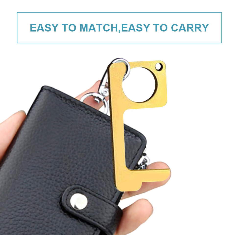 Portable hygiénique Ouvre-porte Clean-clésLaiton Alliage 70/% cuivreNo Touch...
