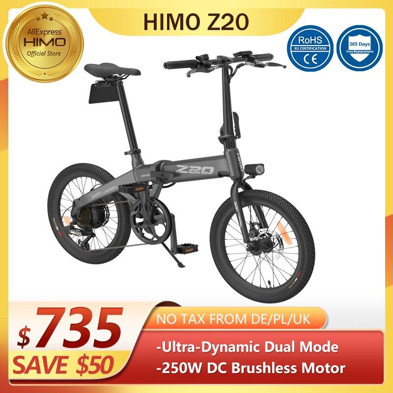 Nessuna-tassa-eustock-20-pollici-pneumatico-Himo-Z20-bicicletta-elettrica-pieghevole-25-km-h-80KM Offerte Bici Elettriche 2021: 11° Anniversario Aliexpress