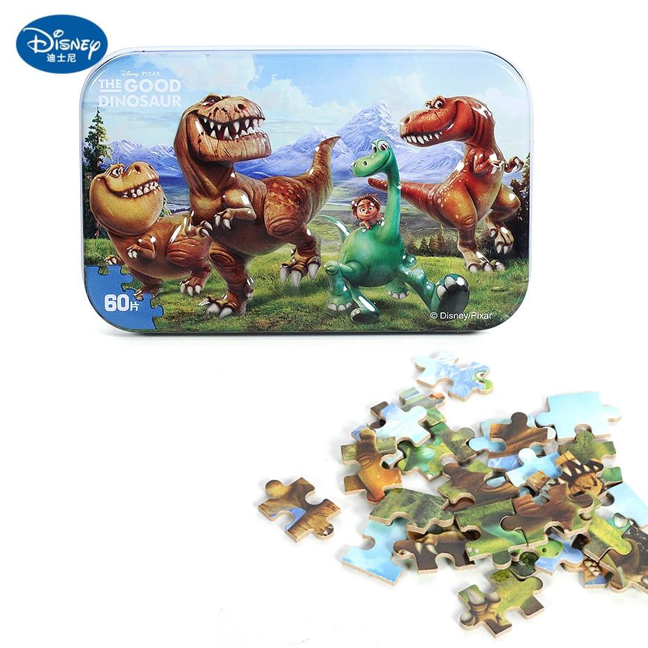 Disney 60 Piece Princess Frozen Wooden Box Puzzle Early Education Children Bottom Box Puzzle Birthday Toys Intelligence Puzzle 25