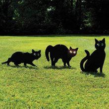 Gran oferta 3pec negro Metal Scare Cats Control de Plagas repelente gato disuasivo gato negro
