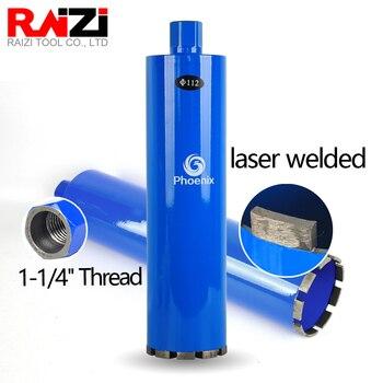цена на Raizi Wet Laser welded Diamond Core Drill Bit Hole Saw for Masonry Concrete 1-1/4 thread Diamond Core drill bit