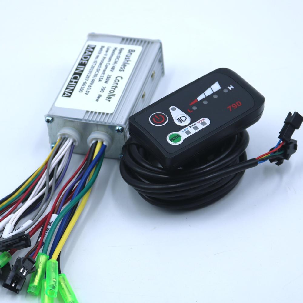 GREENTIME New Style 36V/48V 250W E-bike Brushless Motor 790 Controller BLDC Motor Driver+790LED Display