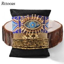 Rttooas Blue Evil Eye Bracelets For Women Gold Beaded Tassel Bracelet Pulseras Mujer Mode 2020 Fashion Jewelry Handmade Armband