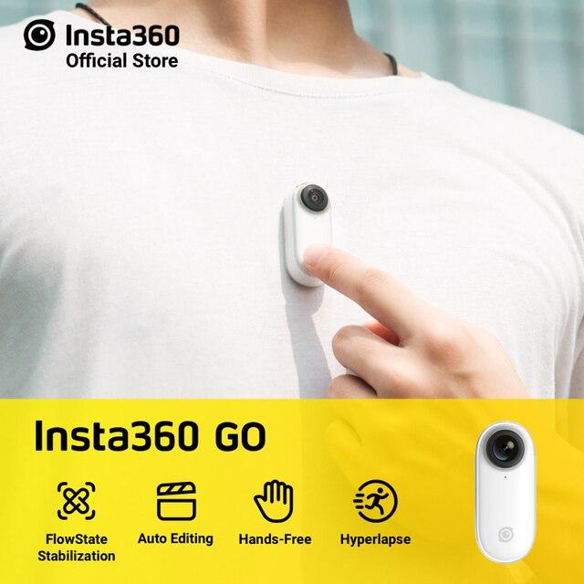Insta360 Cámara de acción GO manos libres con IA, edición automática, mini cámara estabilizada más pequeña, para hacer Vlog, para iPhone y Android