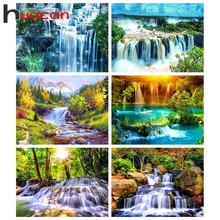 Painting-Waterfall Embroidery Mosaic-Landscape-Kits Diamond Huacan Home-Decoration Full-Square