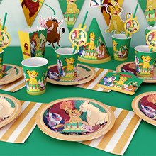 Lion Birthday Party Decoration Jungle Party Supplies Animal King Balloon Lion Baby Shower Banner Disposable Paper Tableware Gift