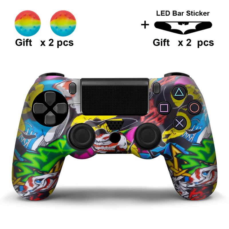 Soft Silicone Rubber Skin <font><b>Case</b></font> Gel Protective Cover for Playstation4 For <font><b>PS4</b></font> <font><b>Controller</b></font> Camo Style image