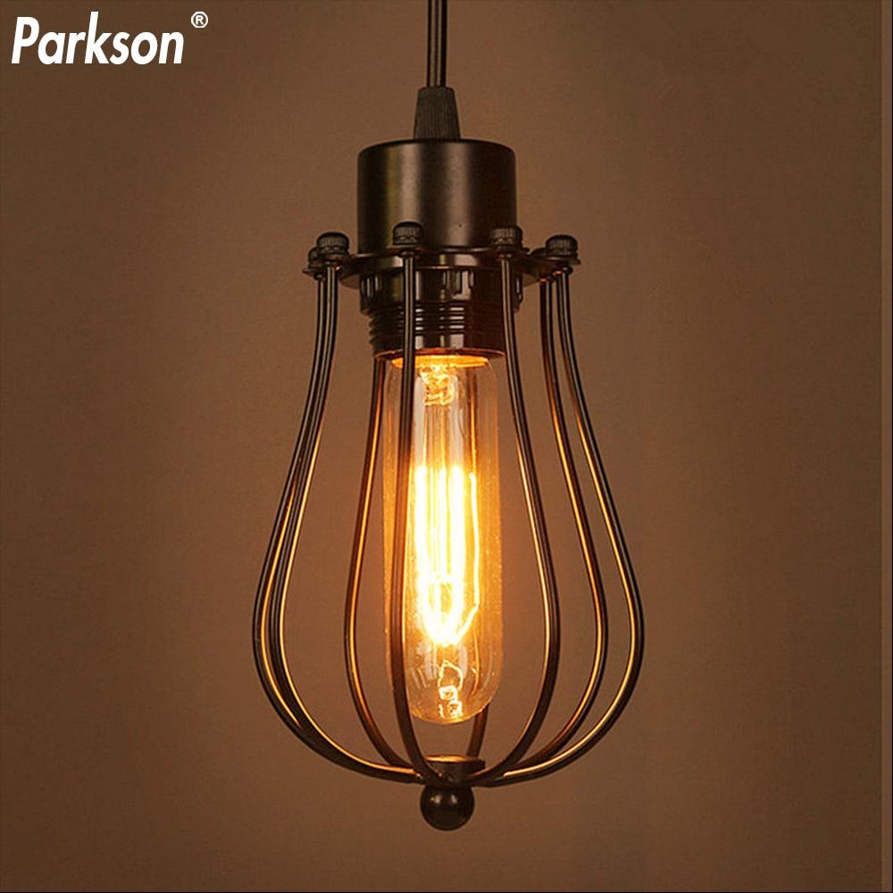 Retro E27 LED Pendant Light Vintage Edison Bulb Industrial Light Birdcage Iron Lamps Loft Home Decorative Lights Luminaire