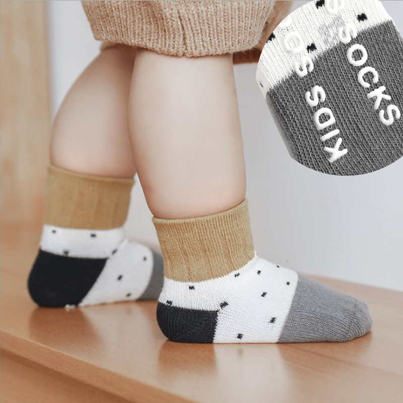 Baby Boys Non-slip Socks Girls Newborn Infant Cool Socks Kids Childish Toddler Warm Cotton Cute Short Anti Slip Sock Accessories