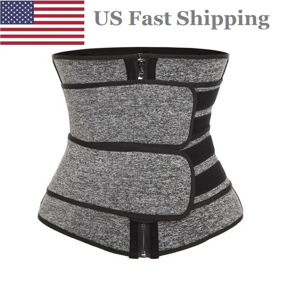 US Dropshipping Sweat Belt Waist Trainer for Women Weight Loss Compression Trimmer Workout Fitness Sweat Slimming Belt Shaper