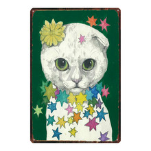 Japanese Cat Sign Plaque Metal Vintage Metal Plate For Wall Poster Bar  Art Home Decor Cuadros DU-2893