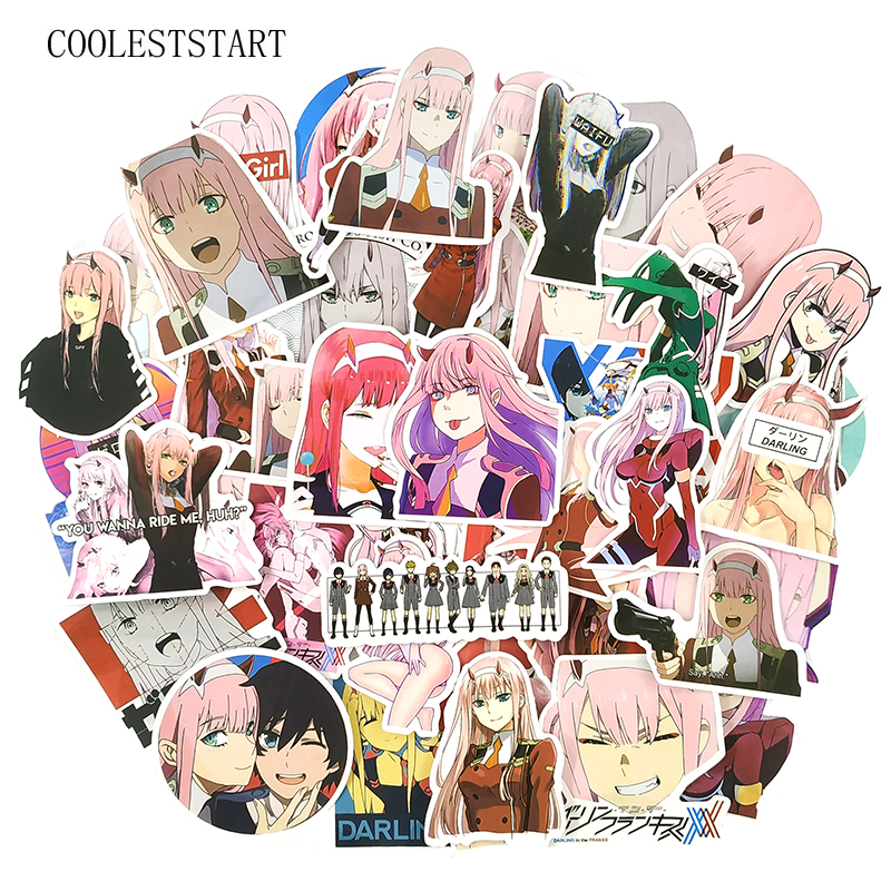 50 Pcs/Set DARLING In The FRANXX Anime Graffiti Stickers For ZERO TWO Scrapbooking Laptop Luggage Motorcycle Phone Skateboard