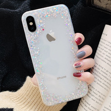 LAPOPNUT Glitter Case for IPhone 11 Pro Max X Xr Xs Slim Bling Sequins Soft Silicone Clear Capa for IPhone 7 Plus 8 6S 6 5 5S SE webbedepp jack skellington silicone soft case for iphone 5 se 5s 6 6s plus 7 8 11 pro x xs max xr
