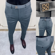 Suit Pants Clothing Street-Wear Social Business Casual Formal Fashion Spring New Slim